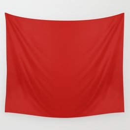 Dark Solid Chilli Pepper Red Color Wall Tapestry