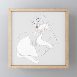 SLEEP WITH ME Framed Mini Art Print