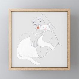 SLEEP WITH ME Framed Mini Art Print