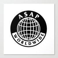 asap rocky Canvas Prints featuring asap world by Folksart