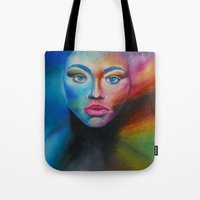 psychedelic Tote Bags featuring Psychedelic  by Halinka H