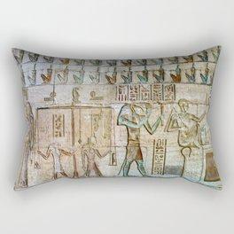 ANCIENT EGYPT TEXTURE (Temple of Deir el Medina) Rectangular Pillow