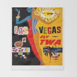 Vintage poster - Las Vegas Throw Blanket
