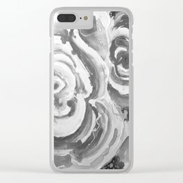 Roses for my sister in grey Clear iPhone Case