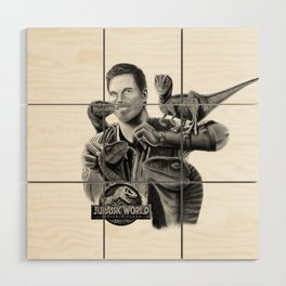 Owen and Raptors Wood Wall Art
