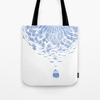 balloon Tote Bags featuring Balloon  by Gurven