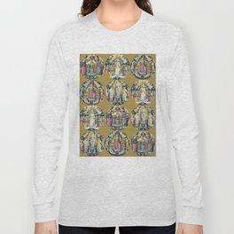 """Raffaello Sanzio da Urbino """"Ceiling Of The Stanza Dell Incendio Del Borgo"""" Long Sleeve T-shirt"""