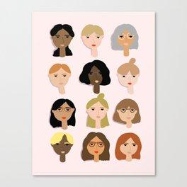 Girls Illustration Canvas Print