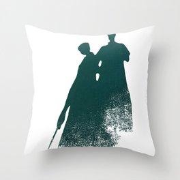 Shadow Men Throw Pillow