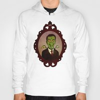 lovecraft Hoodies featuring Prophets of Fiction - H.P. Lovecraft /Cthulhu by niles yosira
