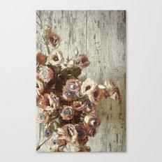 Classic Pastel Floral Canvas Print