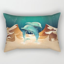 Dolphin Desert Rectangular Pillow