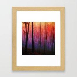 Whispering Woods, Colorful Landscape Art Framed Art Print