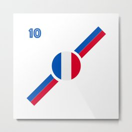French Flag soccer team jersey Metal Print