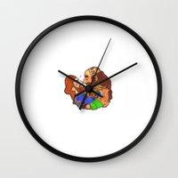 nori Wall Clocks featuring Small Nosebump  by BlueSparkle