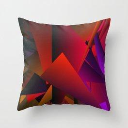 Smoke Screen Abstract 5 Throw Pillow
