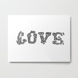 Love Breaking Through Metal Print