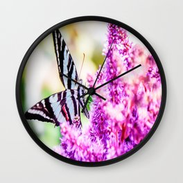 Beautiful Butterfly Wall Clock