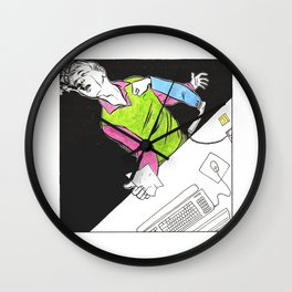 Ability to punch people through phones Wall Clock