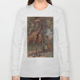Vintage Giraffe Painting (1909) Long Sleeve T-shirt