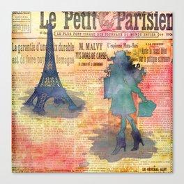 Shopping in Paris Canvas Print