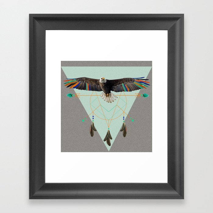 The indian eagle is watching over Po's dreamcatcher Framed Art Print