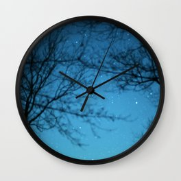 Starry Sky - Night Photography Shot Wall Clock