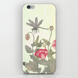 Butterfly and flowers -The Still Point iPhone Skin