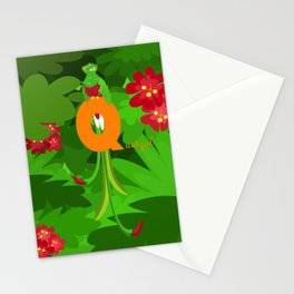q for quetzal Stationery Cards