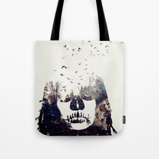 Tousled bird mad girl Tote Bag