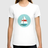 boat T-shirts featuring Boat by Valendji