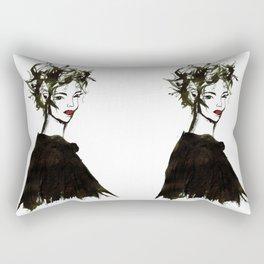 'Gemma1' Armani fashion Illustration Rectangular Pillow