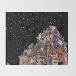 Pile of Monsters (Autumn Colors) Throw Blanket
