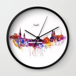 Zurich Skyline Wall Clock