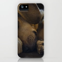 Sleepy Dog iPhone Case