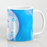ohm Mugs featuring Ohm / Om 2 by HollyJonesEcu