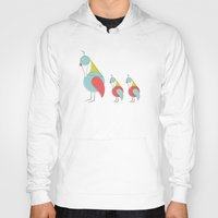 mid century Hoodies featuring Mid Century Modern Partridges by Modern South Design