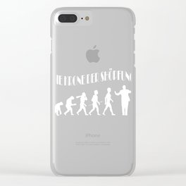 """A Musical German Tee""""Die Krone Der Shopfung"""" Which Means """"The Crown Of The Creation"""" T-shirt Design Clear iPhone Case"""