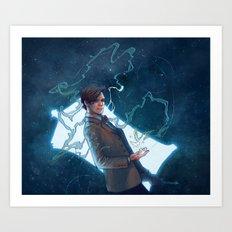 A boy and his box Art Print