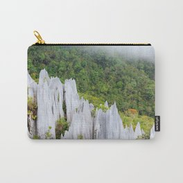 Pinnacles limestone formation in Gunung Mulu national park Borneo Malaysia Carry-All Pouch