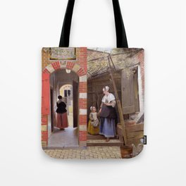 "Pieter de Hooch ""The Courtyard of a House in Delft"" Tote Bag"