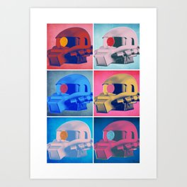 Zaku: Pop Art Art Print
