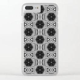 Zebra Stripe Symmetry Clear iPhone Case