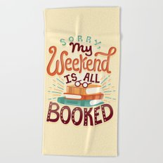 I'm booked Beach Towel