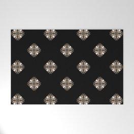 Simulated illuminated diamond pattern Welcome Mat