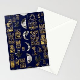 beautiful pagan themed tarot print Stationery Cards
