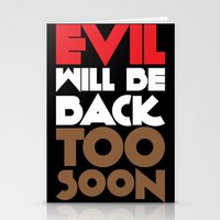 evil Stationery Cards featuring Evil by neil parrish