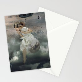 Sentada en la Luna Stationery Cards