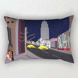 Raining in Manhattan Rectangular Pillow