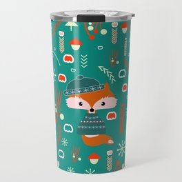 Cute fox waiting for Christmas Travel Mug